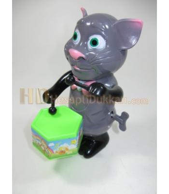 Kurmalı davul oyuncak toptan tom cat kedili