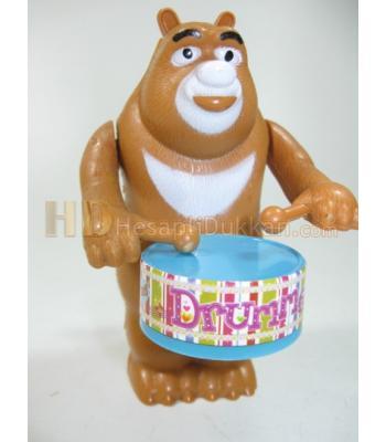 Kurmalı davullu ayı oyuncak toptan