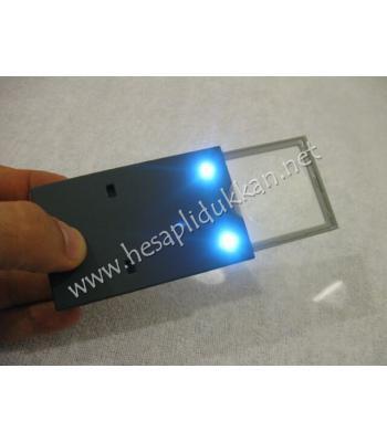 kredi kartı inceliğinde büyüteçli okuma lambası P729