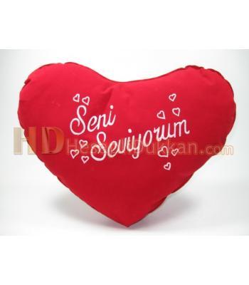 Kalpli yastık sevgiliye hediye