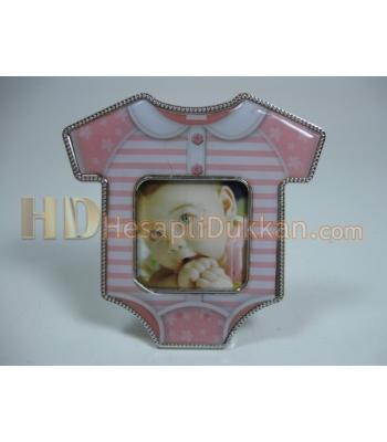 Bebek elbisesi şeklinde magnet çerçeve buzdolabı süsü