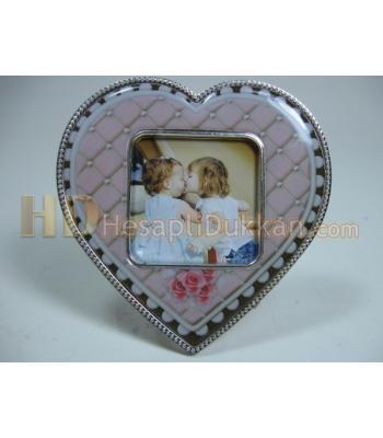 Kalp şeklinde çerçeve bebek magnet buzdolabı süsü