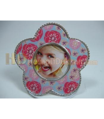 Çiçek şeklinde çerçeve bebek magnet buzdolabı süsü