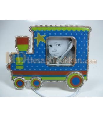 Tren şeklinde magnet çerçeve bebek buzdolabı süsü