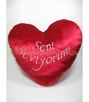 Dev peluş kalp 60 cm