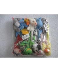 Peluş oyuncaklı kalemler - 12 li paket