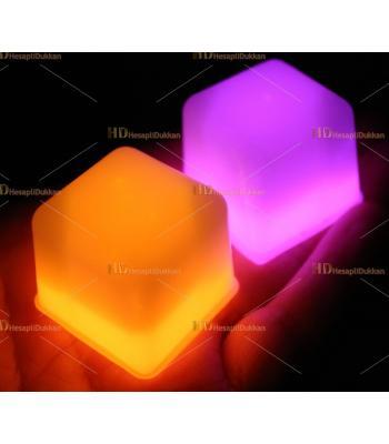 Glow ışıklı buz parlak renkli fosforlu küp