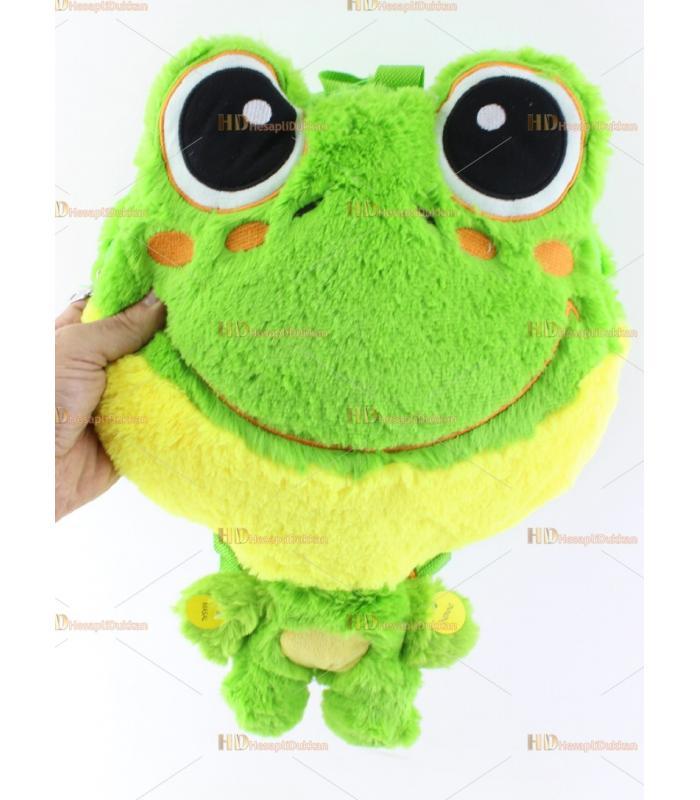 Promosyon oyuncak peluş kurbağa çanta masal okur ninni söyler