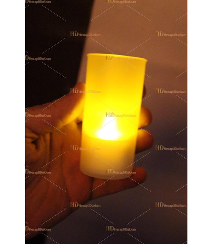 Promosyon ürünü pilli ışıklı mum baskı logo markalama