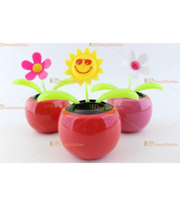 Promosyon oyuncak solar güneş enerjili dans eden çiçekler