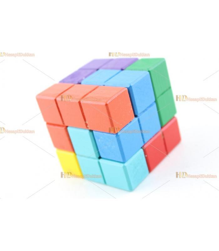 Promosyon oyuncak tetris zeka küpü ahşap