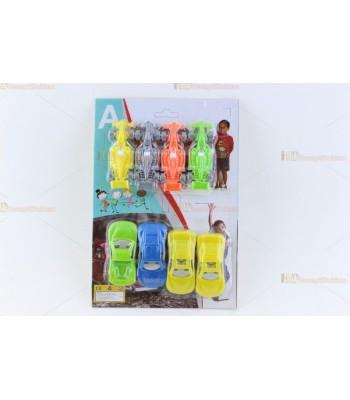 Promosyon oyuncak araba seti plastik kartlı