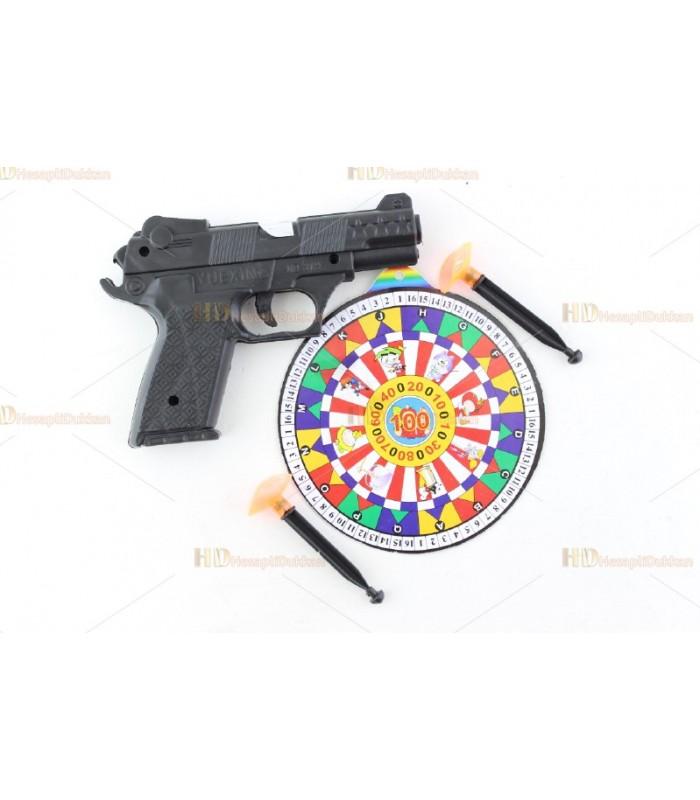 Promosyon oyuncak tabanca hedefli iki oklu