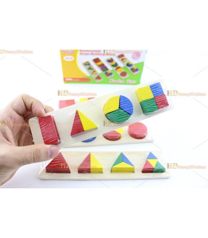 Promosyon eğitici oyuncak şekilli yapboz seti 3 lü