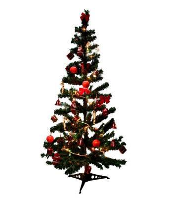 90 cm çam ağacı + 40 parça ağaç süsü + 100 lü fonksiyonel yılbaşı ışığı