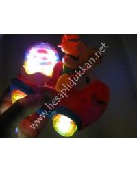 Zilli ışıklı pilli eğlence arabası ışıklı oyuncaklar P897