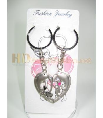 İkili kalpli yunuslu anahtarlık Sevgiliye hediye R734