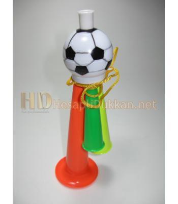 Üçlü maç borazanı promosyon oyuncak boyun askı ipli R757