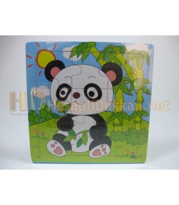 Panda şeklinde yapboz zeka oyuncağı R819