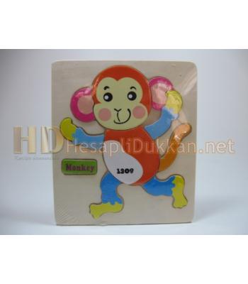 Maymunlu puzzle eğitici oyuncak R824