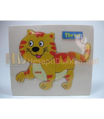 Kedili yapboz eğitici oyuncak R823