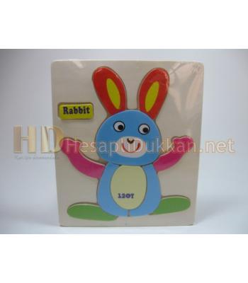 Tavşanlı ahşap yapboz R808