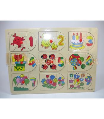 Şekilli rakamlı puzzle eğitici oyuncak R832
