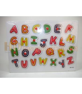 Dağınık renkli harfler eğitici puzzle R835
