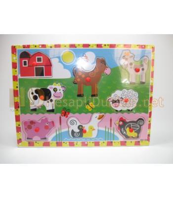 Çiftlik hayvanları eğitici oyuncak puzzle R834
