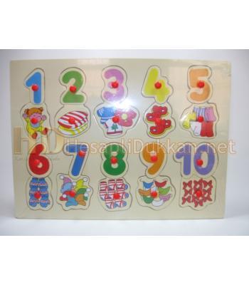 Yirmi parcalı eğitici oyuncak puzzle R837