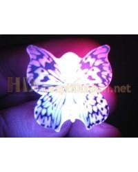 Mavi kelebek ışıklı rozet