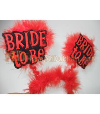 Bride to be taç kırmızı