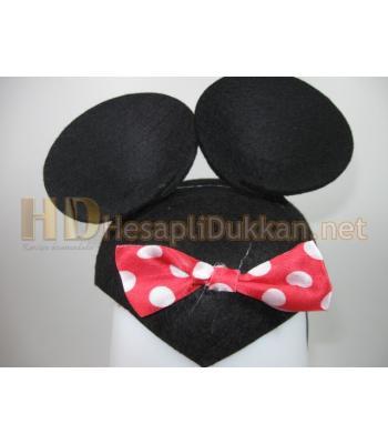 Kurdaleli minnie mouse parti şapkası