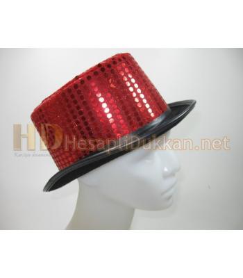 Kırmızı pullu silindir şapka