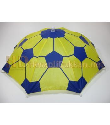 Yeni model şapka şemsiye sarı lacivert