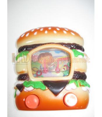 Hamburger şeklinde şu oyunu promosyon oyuncak