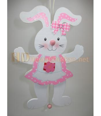 Pembe tavşan ipli kukla