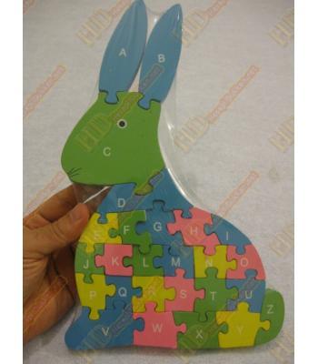 Tavşan şeklinde ana okulu oyuncağı yapboz R196