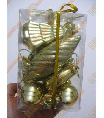 Altın sarısı paket yılbaşı süsleri R239