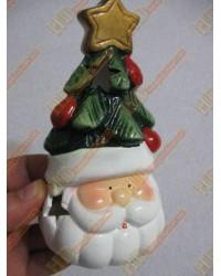 Noel baba şapkası seramik şamdan R249