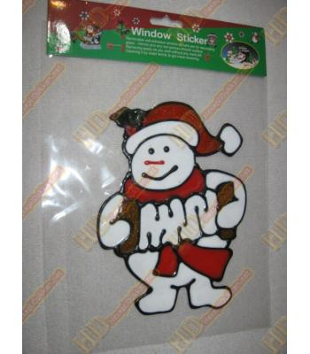 Kardan adam yılbaşı cam sticker R266