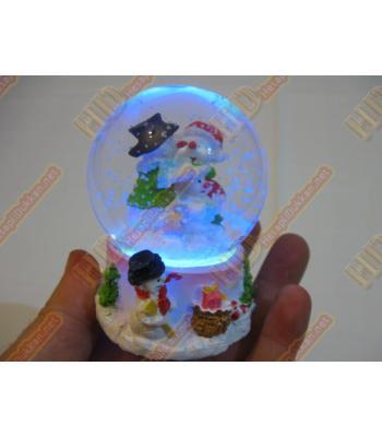 Işıklı sulu fanus noel baba figürleri yılbaşı hediyeliği R285