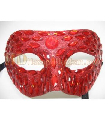 Taş süslemeli parti maskeleri