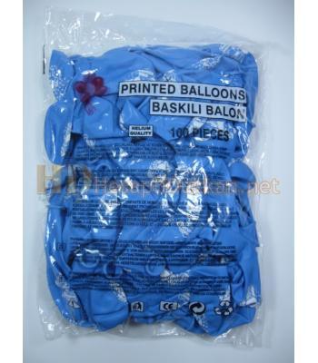Çift yüz Hoş geldin bebek baskılı balon