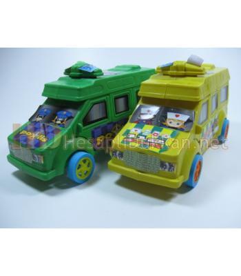 Polis arabası oyuncak ve ambulans R344