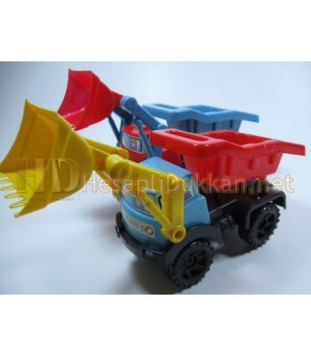 Kepçeli kamyon oyuncak iş makinası R346