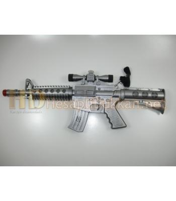 Dürbünlü makineli oyuncak tüfek R380
