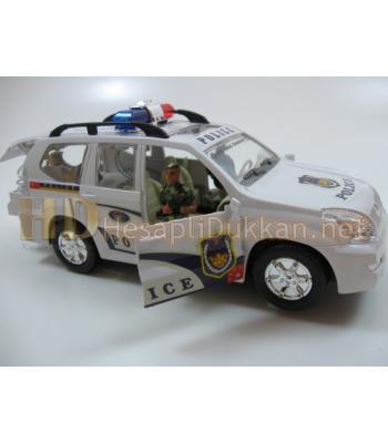 Kapıları açılan sirenli k9 köpekli polis arabası oyuncak R388