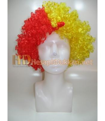 Bonus peruk sarı kırımızı R546