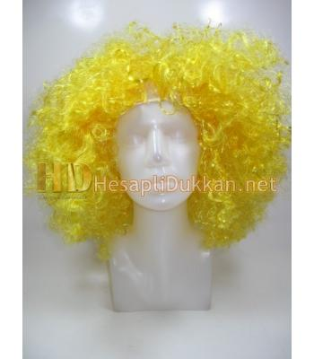 Sarı renk bonus peruk R568